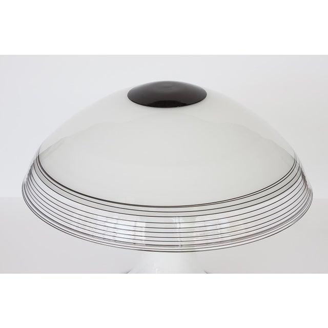 Italian Black and White Murano Swirl Glass Table Lamp - Image 2 of 10