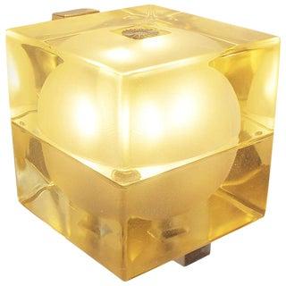 """Pair of Greenish Wall Lamp """"Cubo Sfera"""" 1968 Allessandro Mendini for Fidenza Vetraria For Sale"""