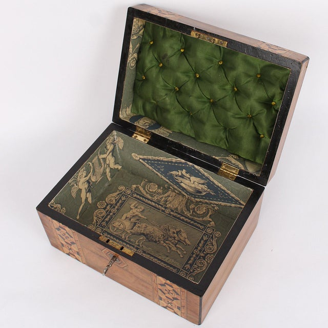 19th C. English Box With Exquisite Marquetry For Sale - Image 9 of 11