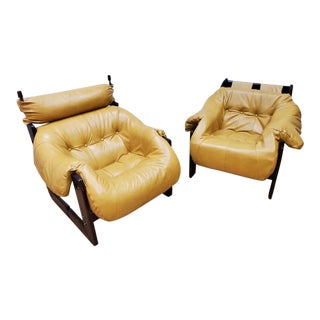 1970s Mid Century Modern Rosewood Lounge Chairs by Percival Lafer Newly Upholstered - Pair For Sale