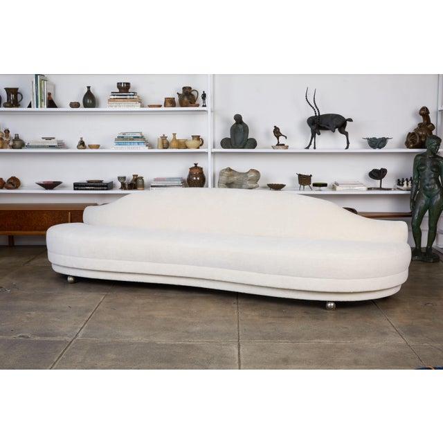 California Modern Serpentine Alpaca Sofa For Sale - Image 9 of 9