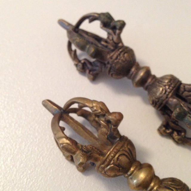 Brass Cambodian Decor - A Pair - Image 5 of 5