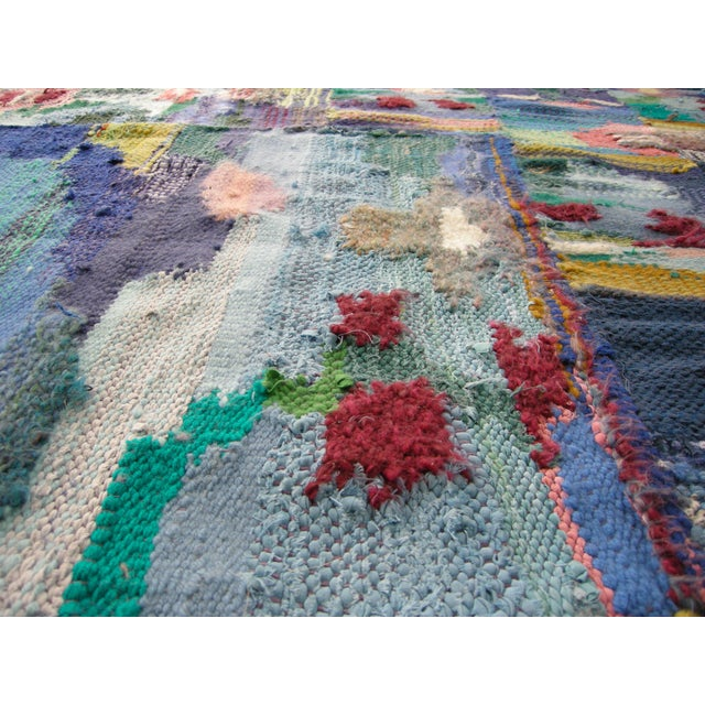 2010s Bespoke Hand Woven Abstract Rug or Tapestry by Paulaschubatis For Sale - Image 5 of 9