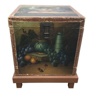 Vintage Mid-Century Still Life Painted Box For Sale