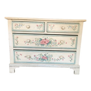 1920s Antique Hand-Painted Chest of Drawers For Sale