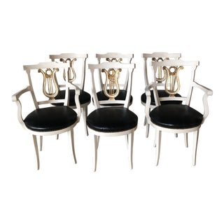 1980's Vintage Harp Backing Chairs- Set of 6