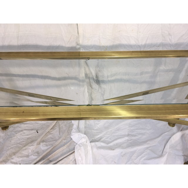 Modernist Brass Console Table - Image 9 of 9