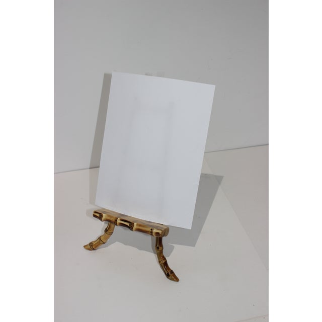 Vintage Handcrafted Tabletop Display Easel Lacquered Bamboo For Sale - Image 11 of 12