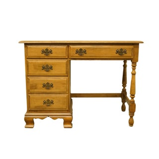 20th Century Early American Sterlingworth Sterling House Collections Colonial Style Solid Maple Writing Desk For Sale