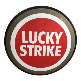 Vintage Lucky Strike Sign For Sale