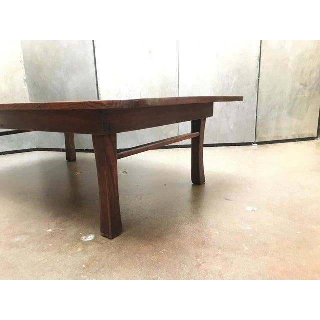 Elm Antique Japanese Keyaki Wood Folding Coffee Table, circa 1900 For Sale - Image 7 of 7