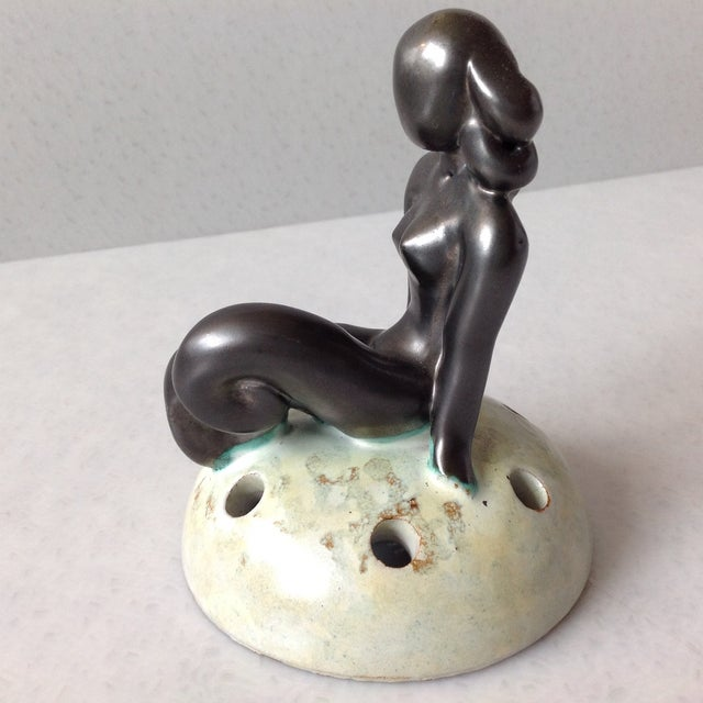 This rare Art Deco Nude Mermaid, freshly procured from a historic estate. This item has been hidden away in an exclusive...