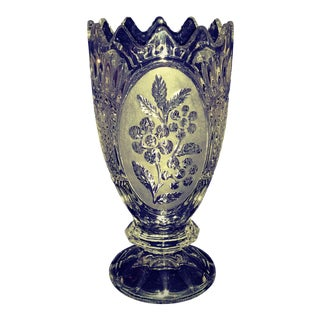 1980s Modern Waterford Lead Crystal Vase