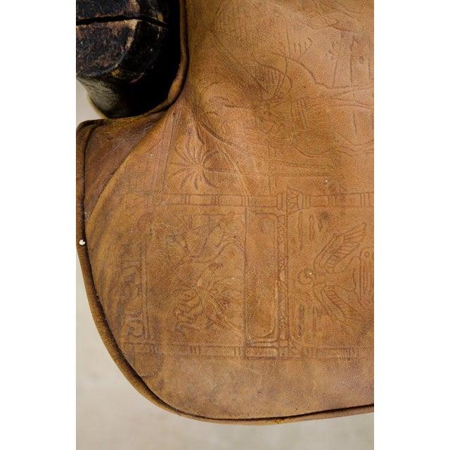Vintage Egyptian Camel Saddle Stool For Sale - Image 10 of 13
