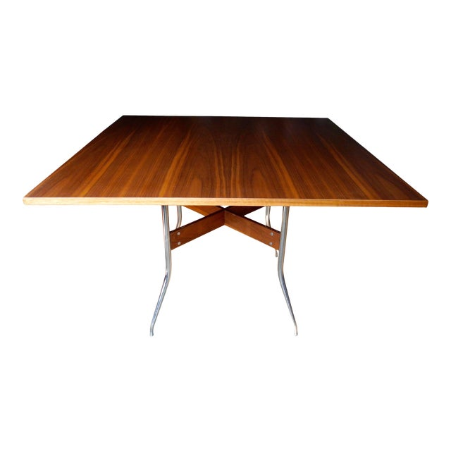 George Nelson for Herman Miller Modern Walnut Square Dining Table For Sale