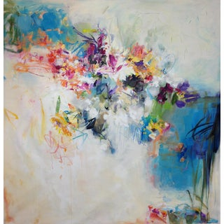 "Cooper Contemporary Abstracted Floral ""Floral Abstraction 3"" For Sale"