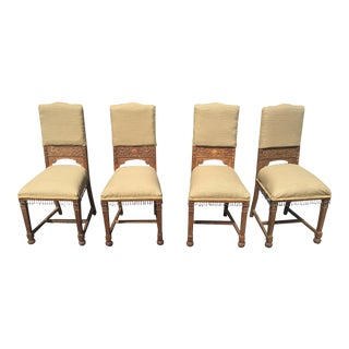 Antique French Oak Chairs - Set of 4
