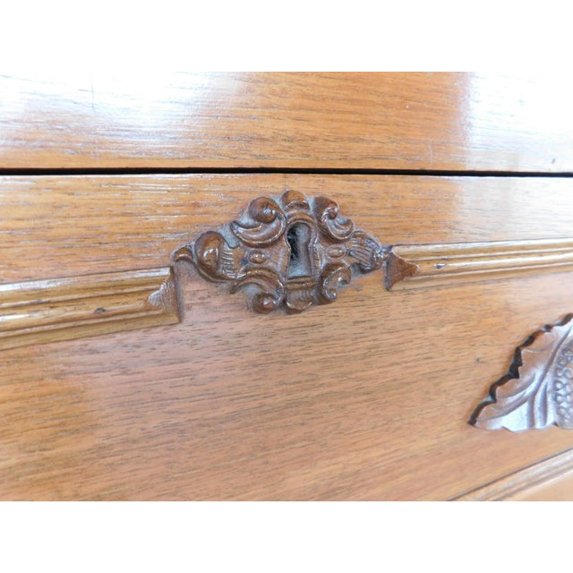Antique Victorian Walnut Cottage Chest For Sale - Image 9 of 13
