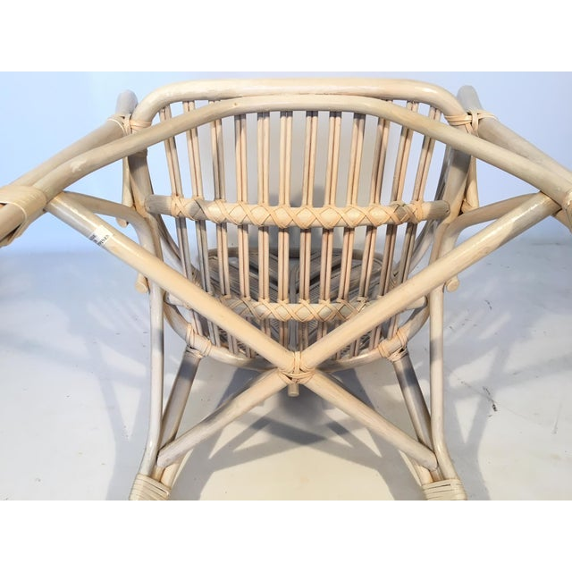 Tan Mid Century Rattan Palm Tree Back Chair - 10 Available For Sale - Image 8 of 12