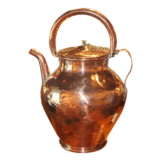 Copper Water Pot with Chained Lid For Sale
