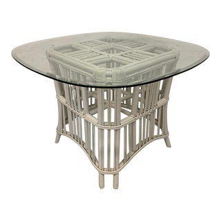 Rattan Ficks Reed Pedestal Dining Table For Sale