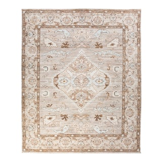 """One-of-a-Kind Traditional Oushak Hand-Knotted Area Rug 8' 0"""" x 9' 9"""" For Sale"""