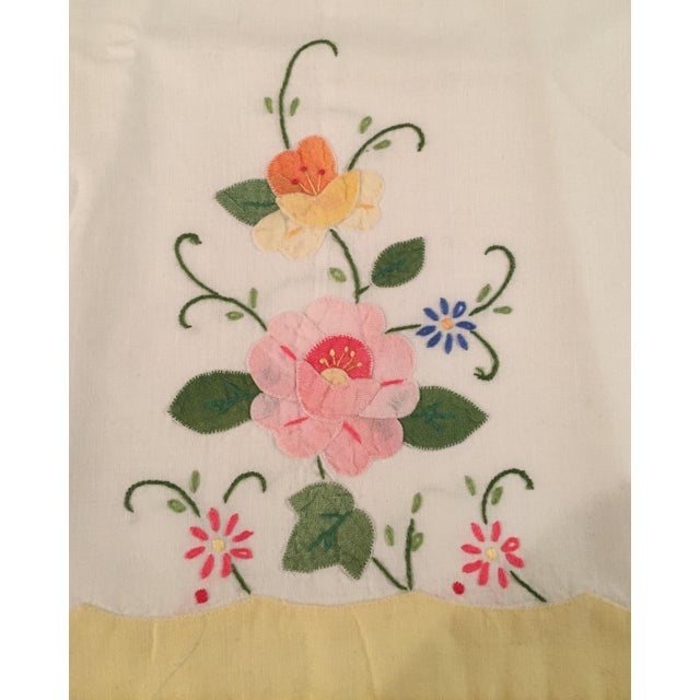 Springtime Floral Embroidered Tea Towels - a Pair - Image 4 of 5