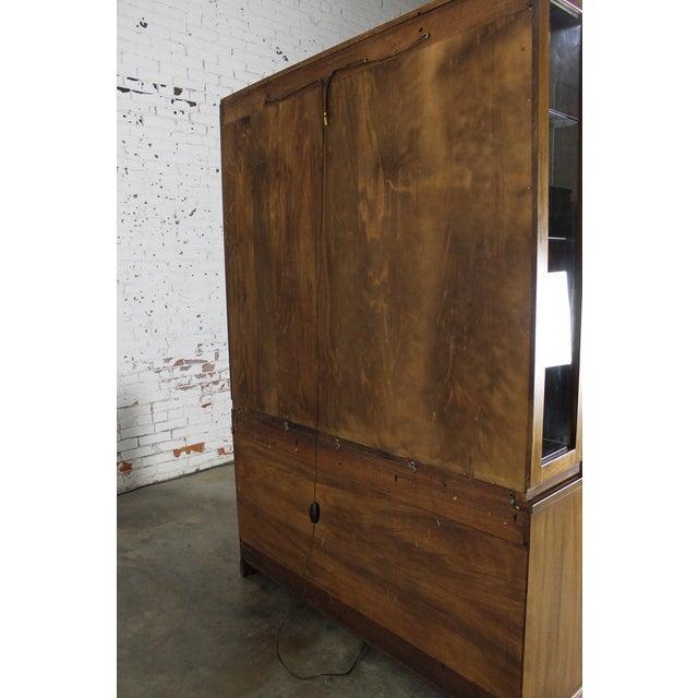 Davis Cabinet Company Lighted Display Cabinet For Sale - Image 11 of 11