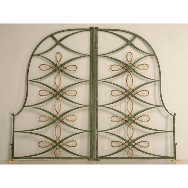 Vintage French Iron & Steel Gates - A Pair - Image 2 of 10