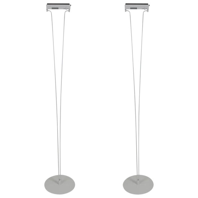 Superb pair of silver cloud floor lamps by piotr sierakowski for pair of silver cloud floor lamps by piotr sierakowski for koch lowy aloadofball Choice Image