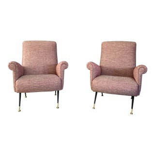 Vintage Mid Century Italian Mid-Century Style Chairs- A Pair For Sale