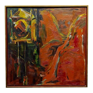 Sabina Ott - Abstracts With Deep Reds - Oil Painting For Sale
