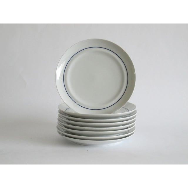 German Blue & White Dessert Plates - Set of 8 - Image 2 of 6