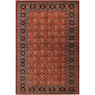 Sherwan Robert Red/Blue Wool Rug - 4'6 X 6'7 For Sale