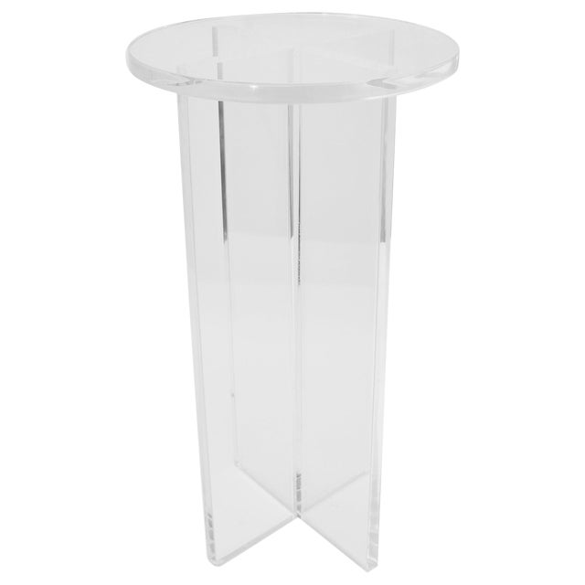 Round Lucite Drinks Table by Iconic Snob Galeries For Sale