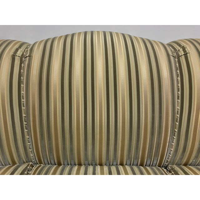 Green Baker Roll Arm Sofa in Cut Velvet For Sale - Image 8 of 13
