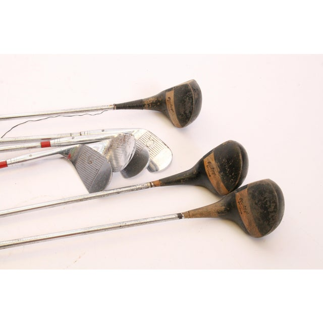 Vintage Rawlings Golf Club Set with Canvas & Leather Bag For Sale - Image 4 of 11