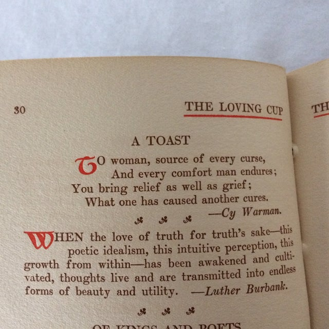 """1909 First Edition """"The Loving Cup"""" Original Toasts by Original Folks by Wilbur Nesbi - Image 9 of 11"""