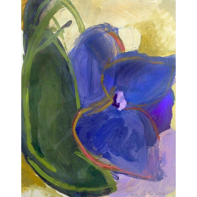 Contemporary Flower Acrylic on Board Painting For Sale