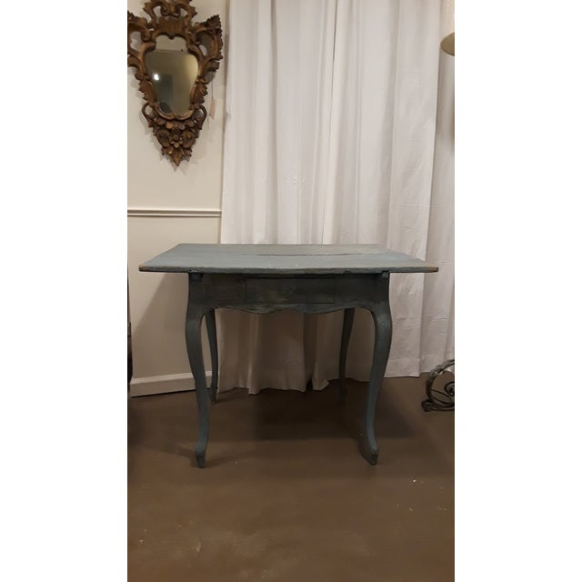 Blue Painted French Louis XV Rococo Side Table - Image 2 of 6