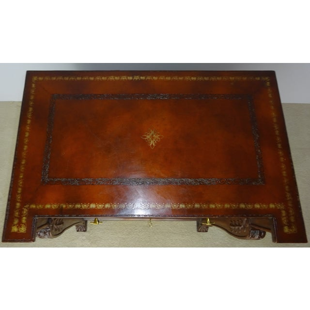 Maitland Smith Leather Faux Book Cabinet For Sale In Los Angeles - Image 6 of 11