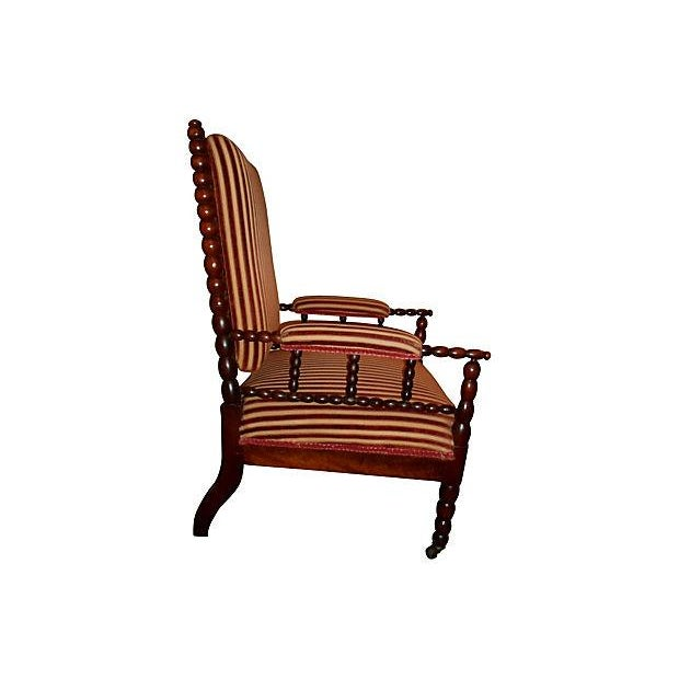 Antique Upholstered Bobbin Chair - Image 3 of 3