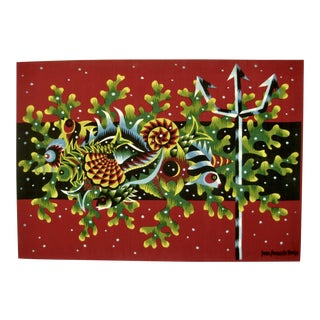 Mid-Century Modern Tapestry From Jean Picard Le Doux For Sale