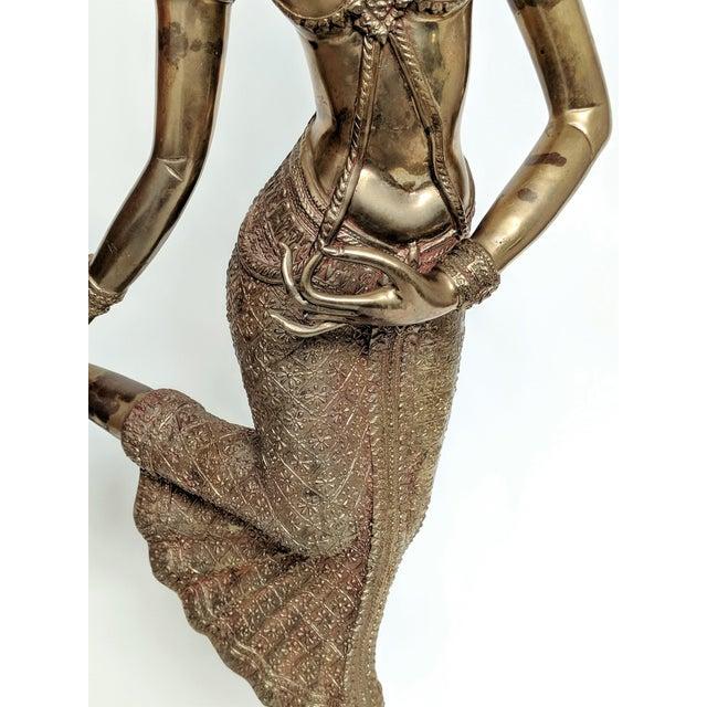 Brass Thai Goddess Brass Sculpture For Sale - Image 7 of 13