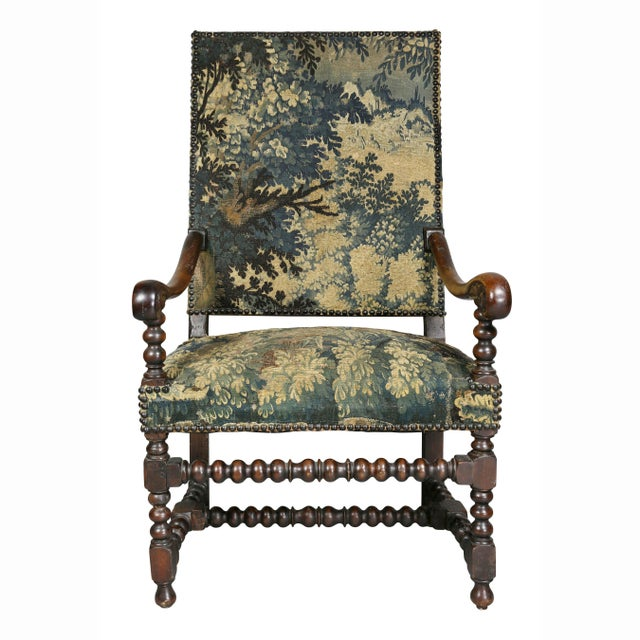 Early 18th Century Flemish Baroque Walnut Armchair For Sale - Image 5 of 12