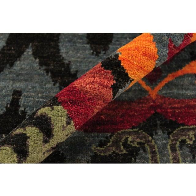 Kafkaz Peshawar Zack Gray/Blue Wool Rug - 7'10 X 10'3 For Sale - Image 4 of 8