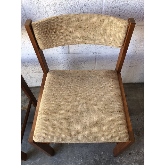 1980s Vintage Mid Century Danish Modern Style Dining Chairs (Set of Four) For Sale - Image 5 of 13