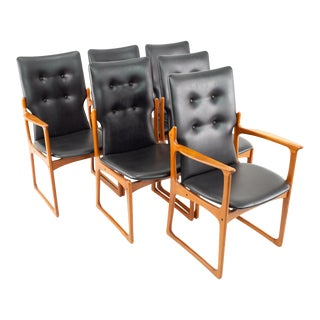 Art Furniture Mid Century High Back Chairs - Set of 6 For Sale
