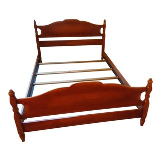 Vintage Mid Century Cushman Queen Size Bed Frame For Sale