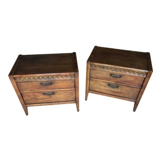 1960s Vintage Broyhill Premier Nightstands - A Pair For Sale